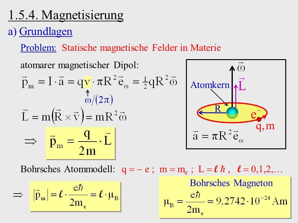 1.5.4. Magnetisierung Grundlagen q, m