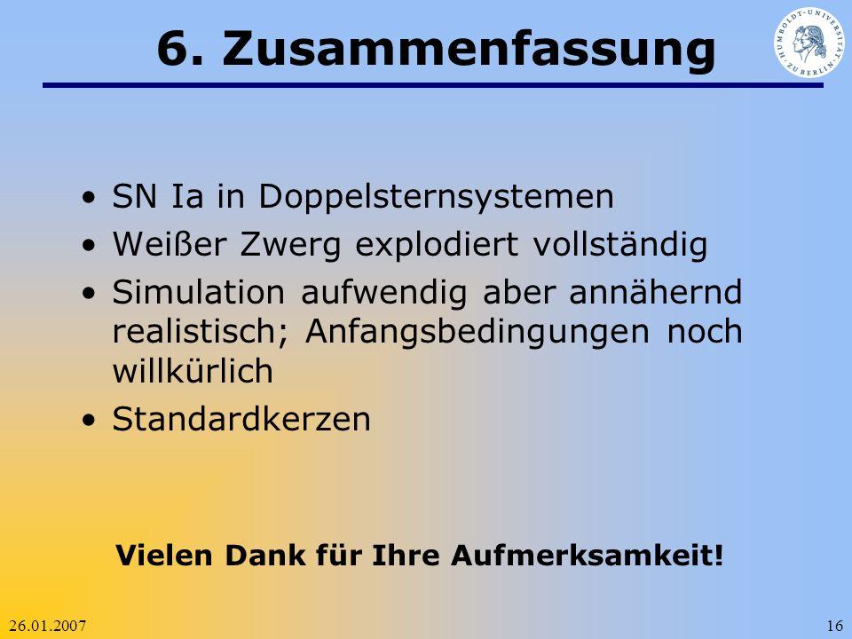 6. Zusammenfassung SN Ia in Doppelsternsystemen