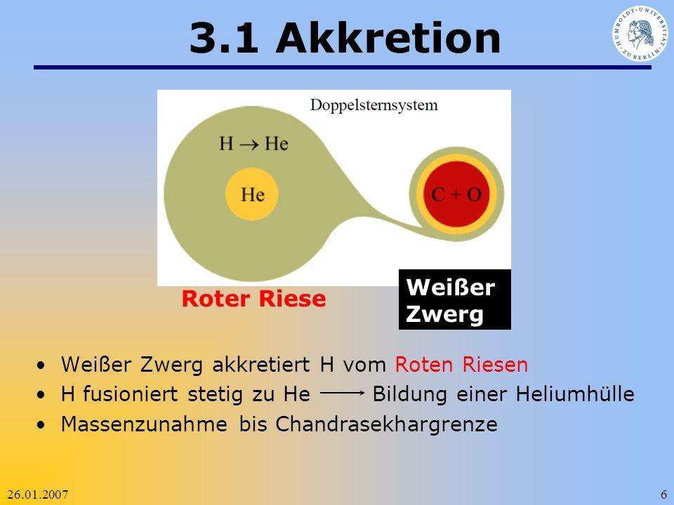 3.1 Akkretion Weißer Zwerg Roter Riese