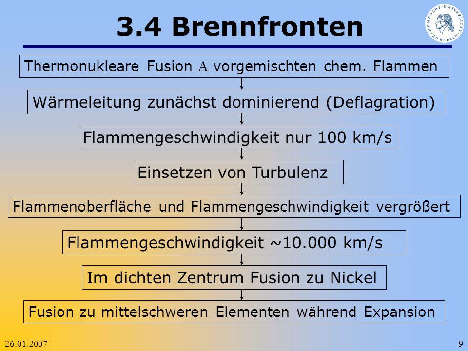 3.4 Brennfronten Wärmeleitung zunächst dominierend (Deflagration)