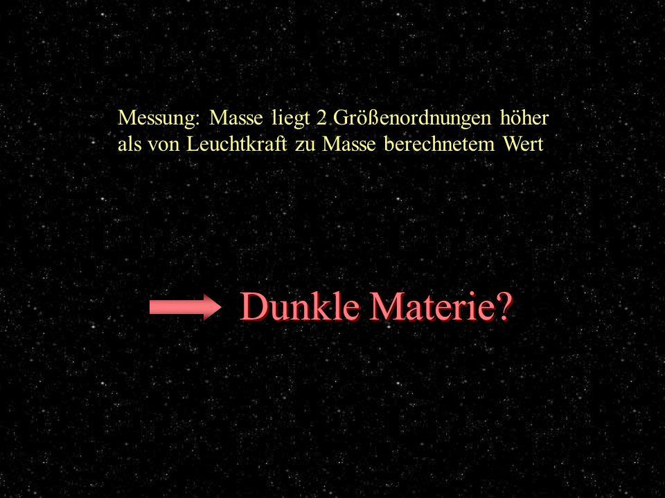 Messung Dunkle Materie Messung: Masse liegt 2 Größenordnungen höher