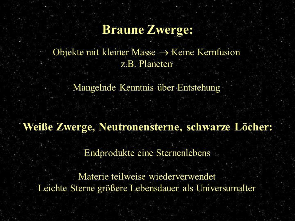 Braune Zwerge Braune Zwerge: