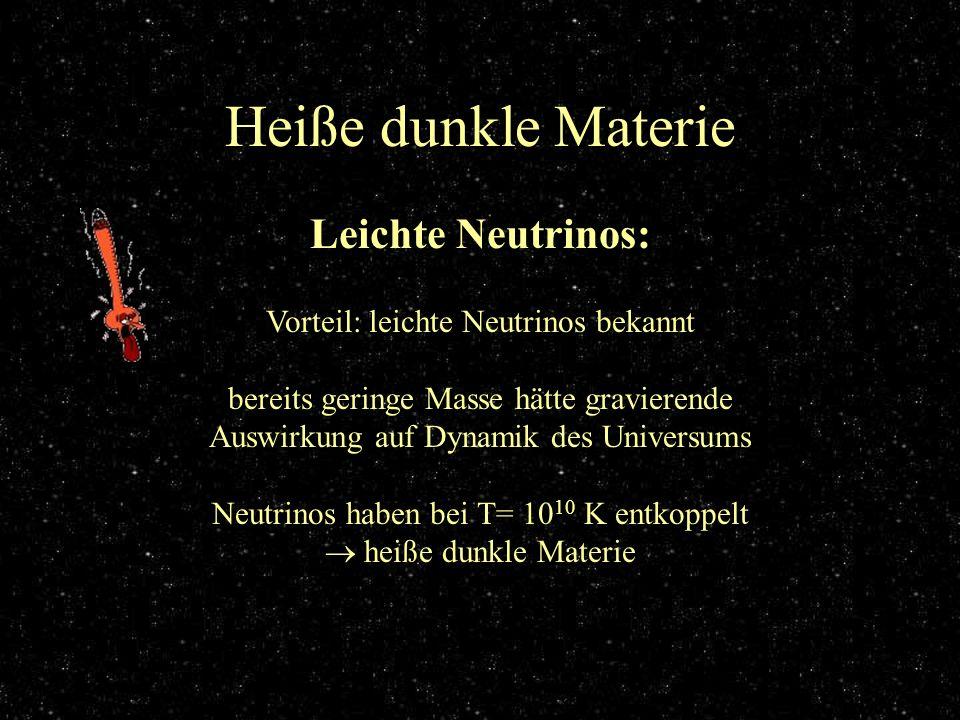 Heiße dunkle Materie Leichte Neutrinos: