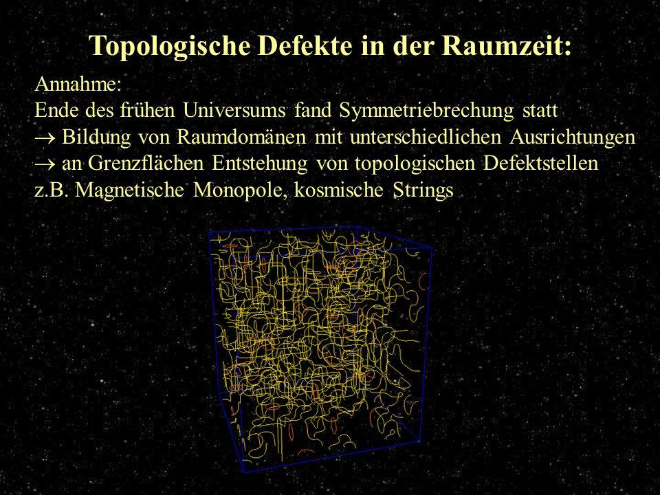 Topologische Defekte in der Raumzeit: