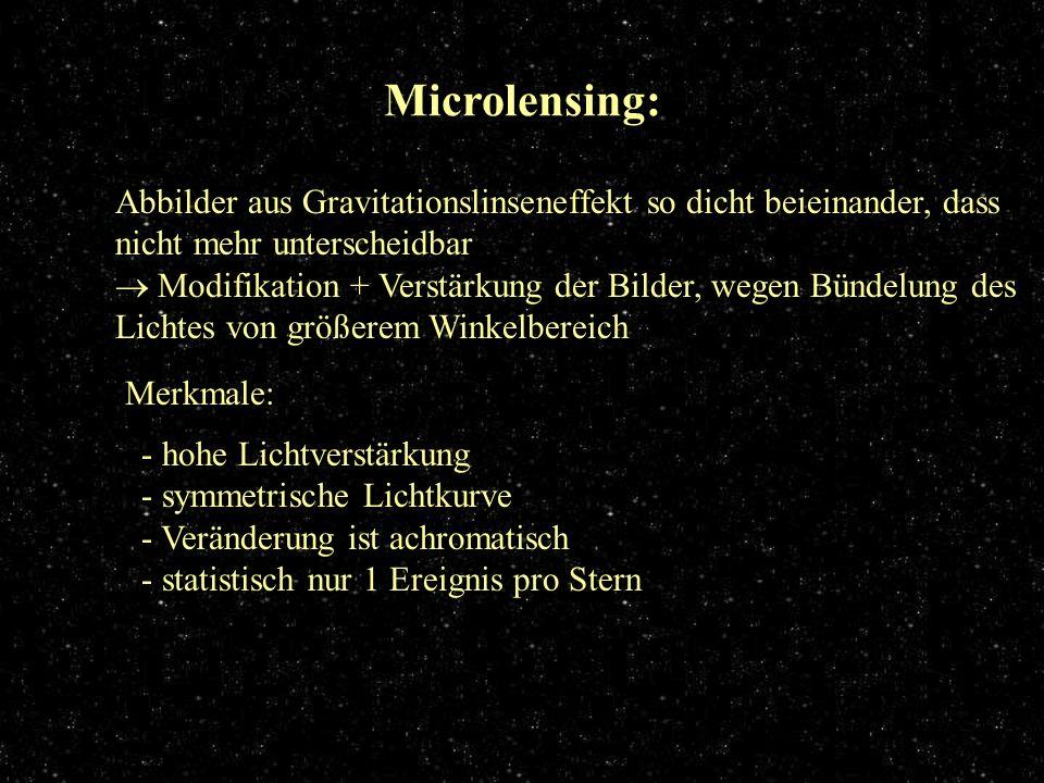 Microlensing Microlensing: