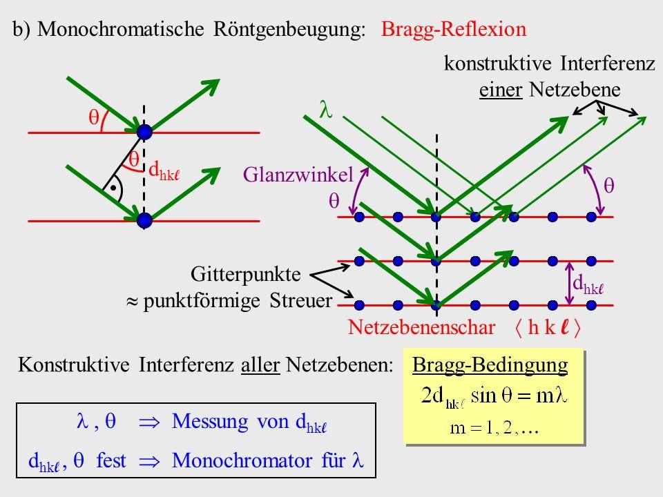 Monochromatische Röntgenbeugung: Bragg-Reflexion