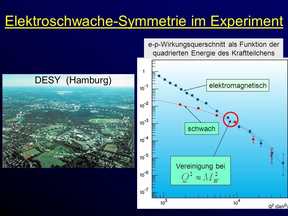 Elektroschwache-Symmetrie im Experiment