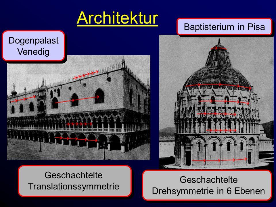 Architektur Baptisterium in Pisa Dogenpalast Venedig