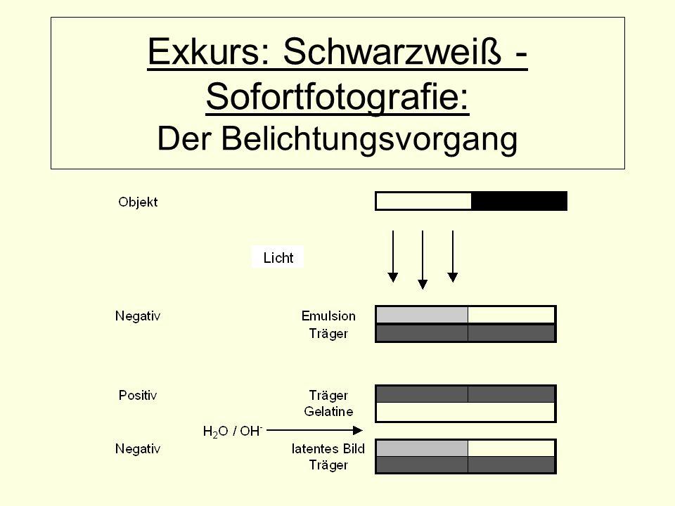 Exkurs: Schwarzweiß - Sofortfotografie: Der Belichtungsvorgang
