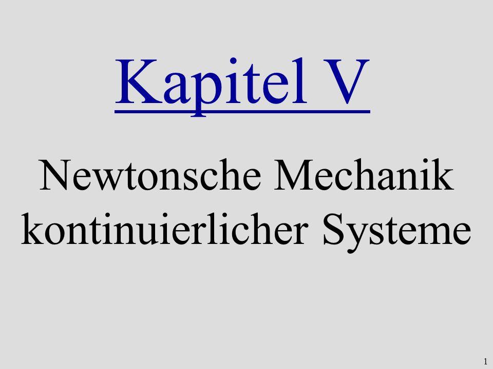 Newtonsche Mechanik kontinuierlicher Systeme