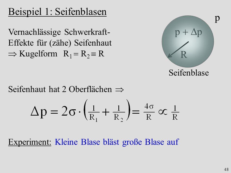 Beispiel 1: Seifenblasen p p  p