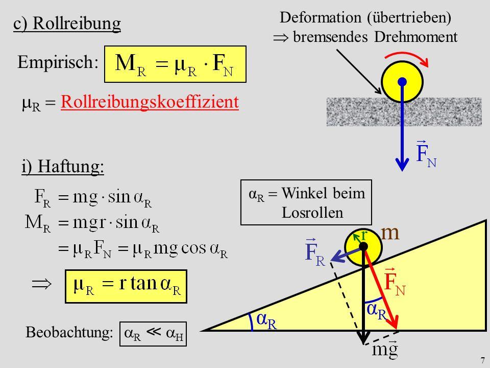 Deformation (übertrieben)  bremsendes Drehmoment
