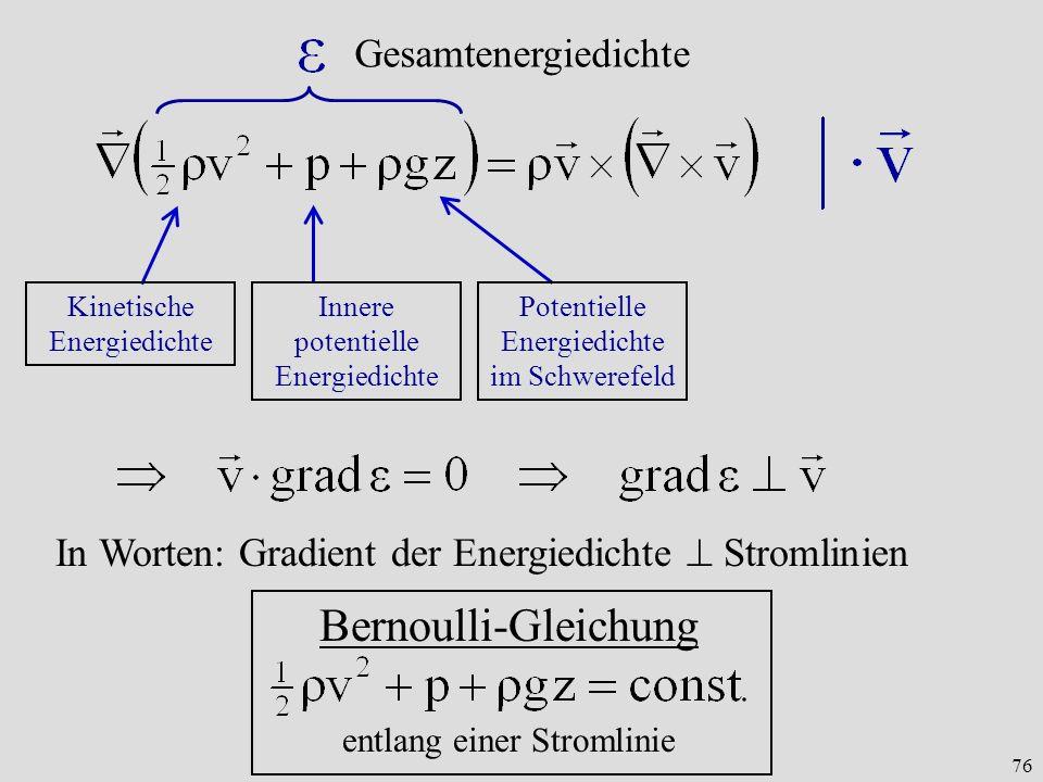 Bernoulli-Gleichung Gesamtenergiedichte