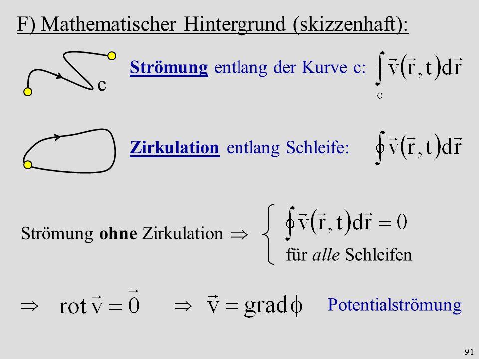 F) Mathematischer Hintergrund (skizzenhaft):