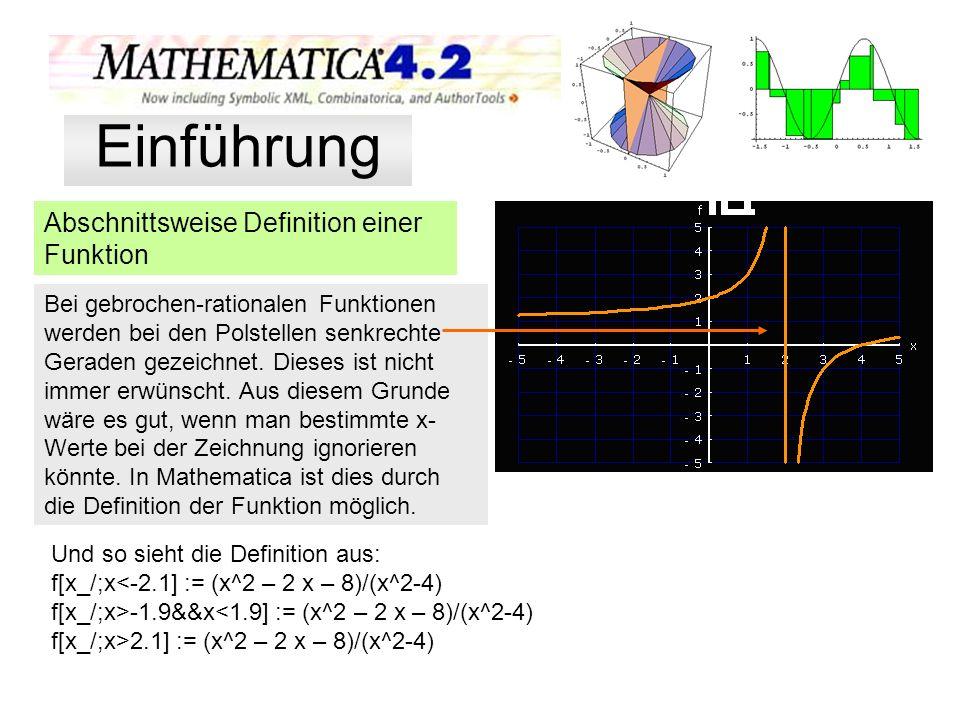 Einführung Abschnittsweise Definition einer Funktion