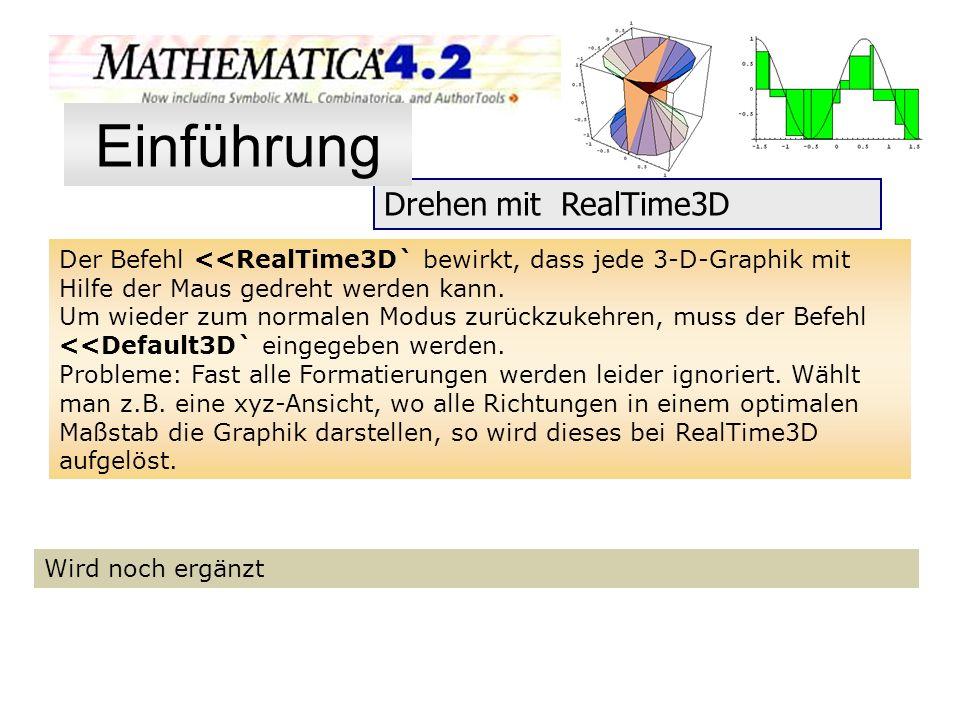 Einführung Drehen mit RealTime3D