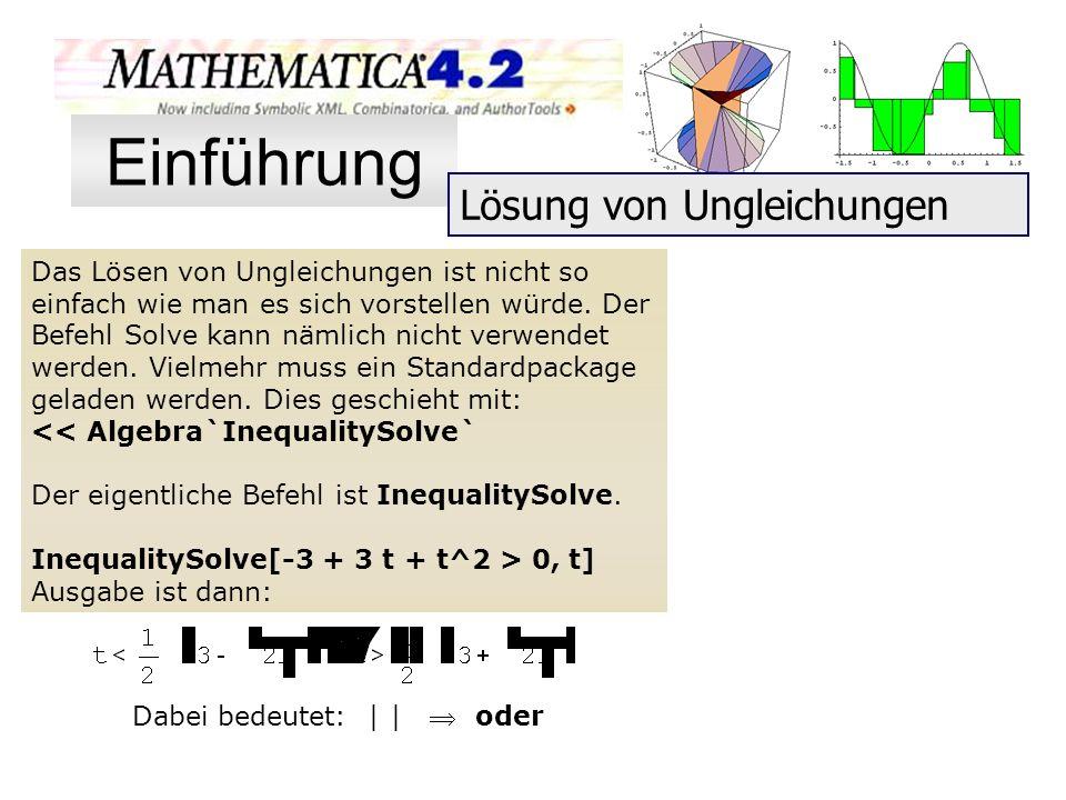 Einführung Lösung von Ungleichungen