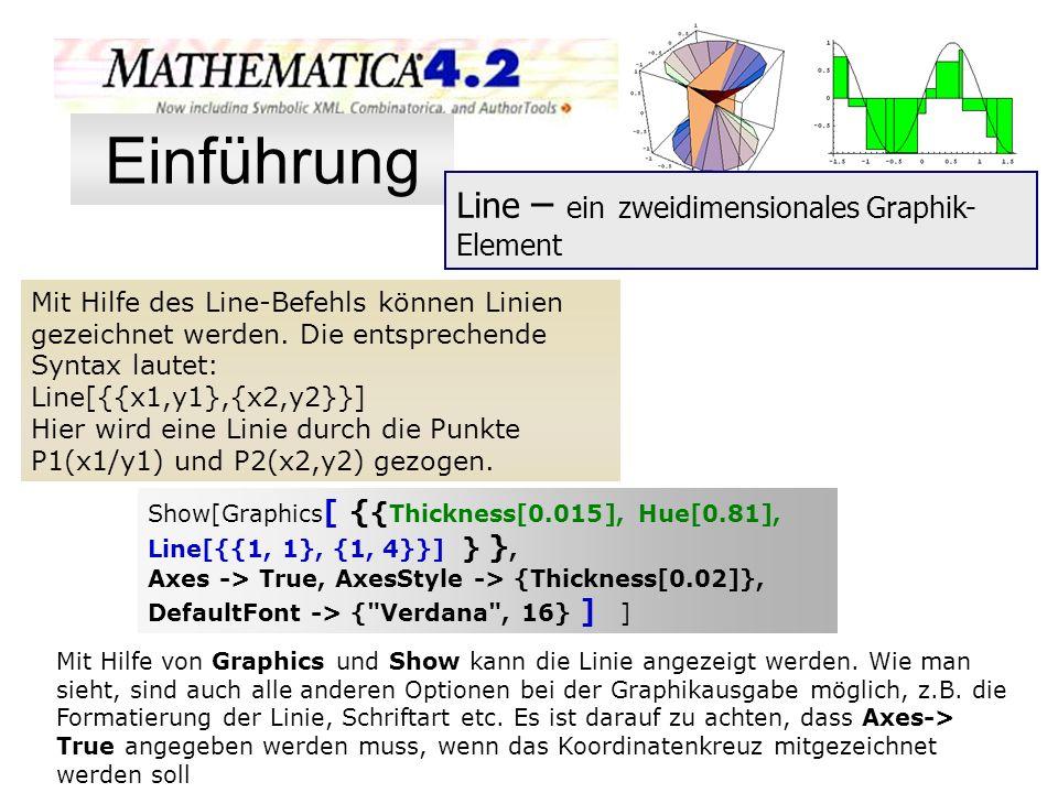 Einführung Line – ein zweidimensionales Graphik-Element