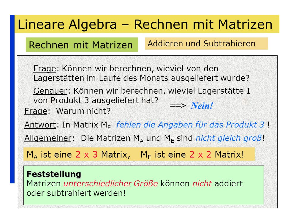lineare algebra rechnen mit matrizen ppt herunterladen. Black Bedroom Furniture Sets. Home Design Ideas