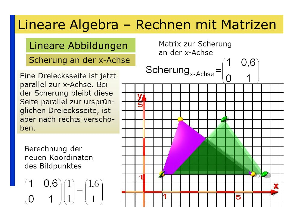Lineare Algebra – Rechnen mit Matrizen