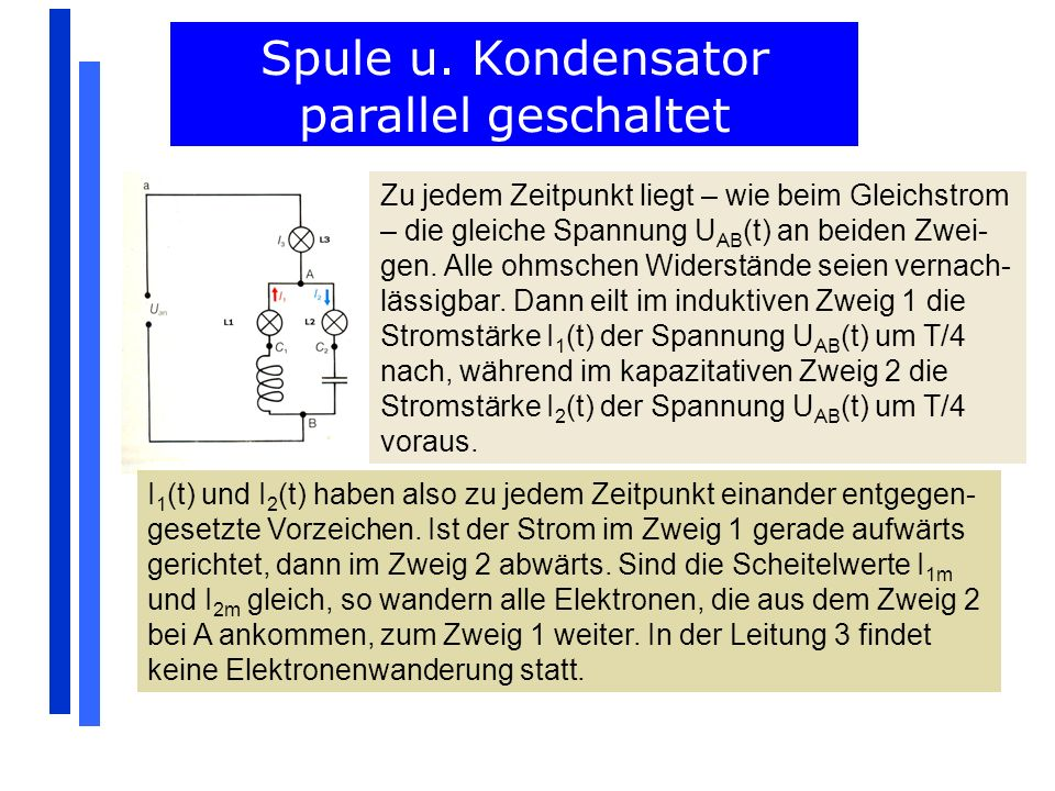 Spule u. Kondensator parallel geschaltet