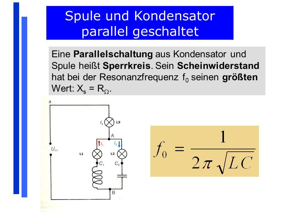 Spule und Kondensator parallel geschaltet