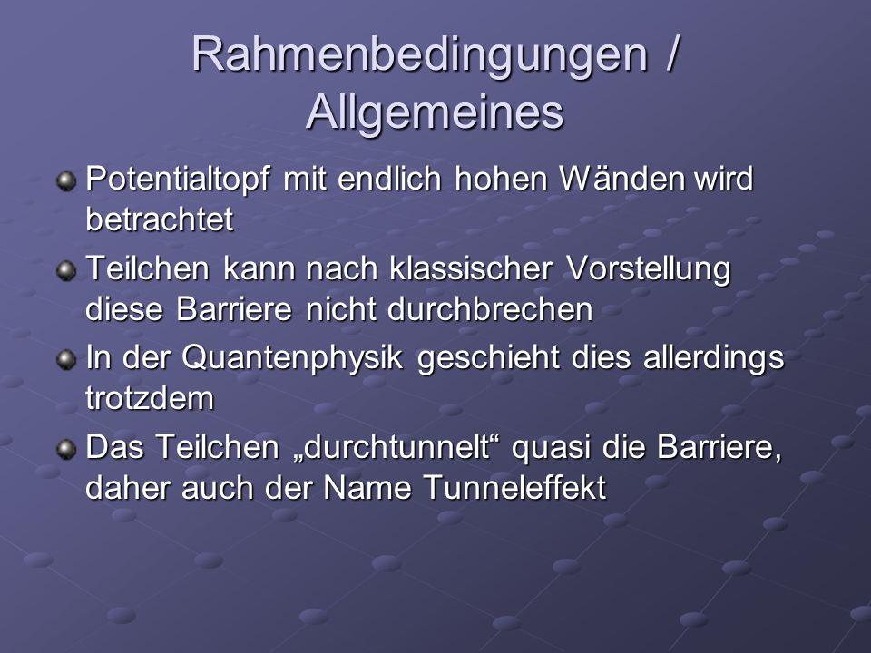 Rahmenbedingungen / Allgemeines
