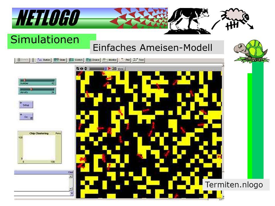Simulationen Einfaches Ameisen-Modell Termiten.nlogo
