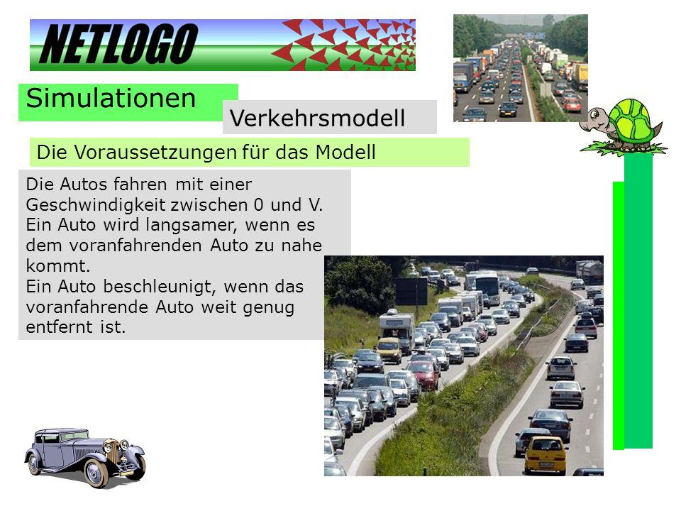 Simulationen Verkehrsmodell Die Voraussetzungen für das Modell