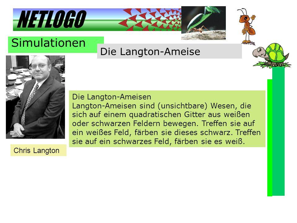 Simulationen Die Langton-Ameise Die Langton-Ameisen
