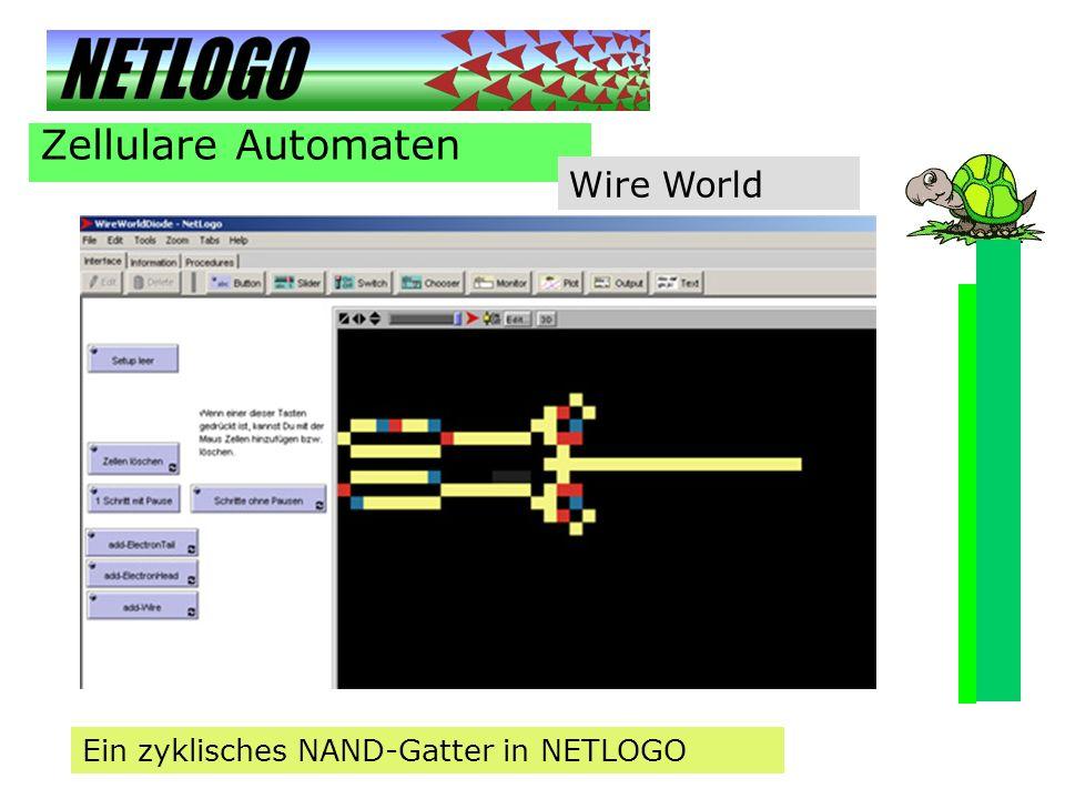Zellulare Automaten Wire World Ein zyklisches NAND-Gatter in NETLOGO
