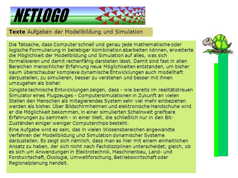 Texte Aufgaben der Modellbildung und Simulation
