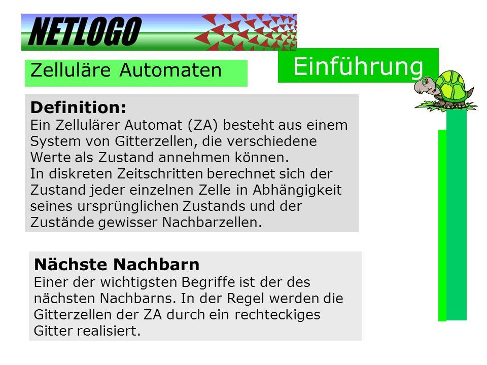 Einführung Zelluläre Automaten Definition: Nächste Nachbarn