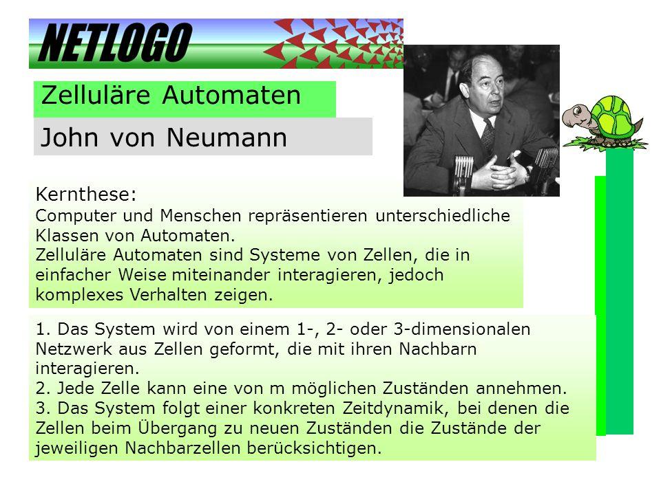 Zelluläre Automaten John von Neumann Kernthese: