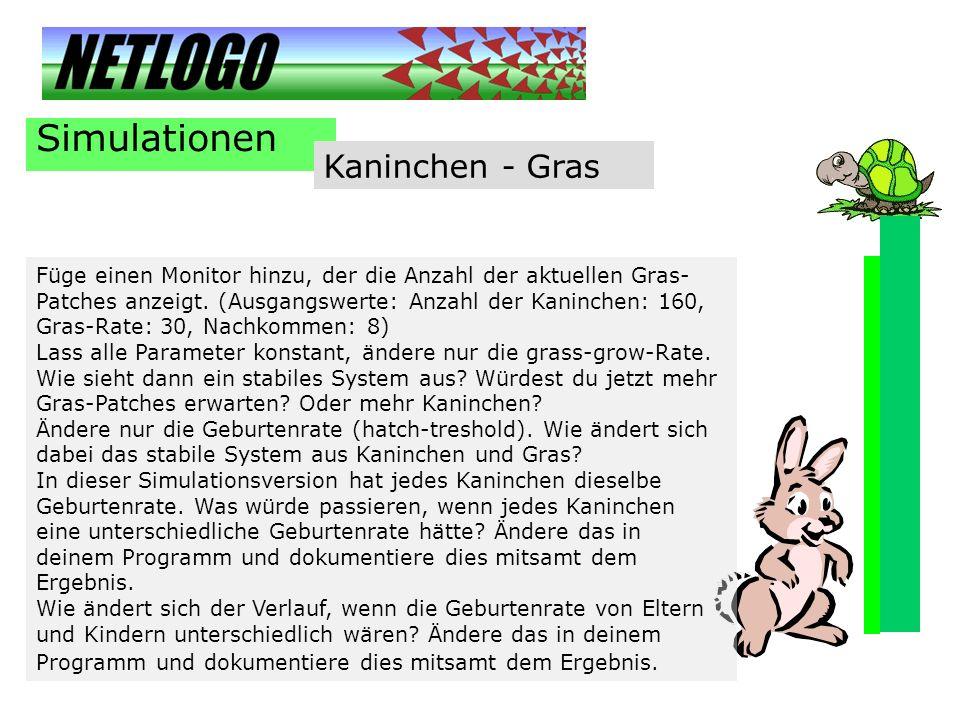 Simulationen Kaninchen - Gras
