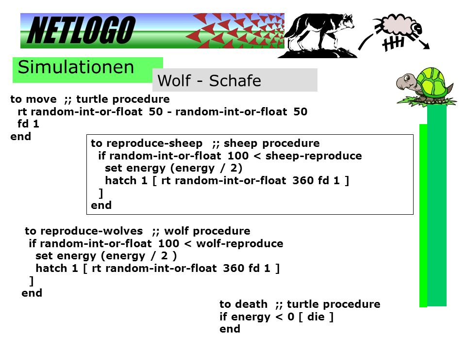 Simulationen Wolf - Schafe to move ;; turtle procedure
