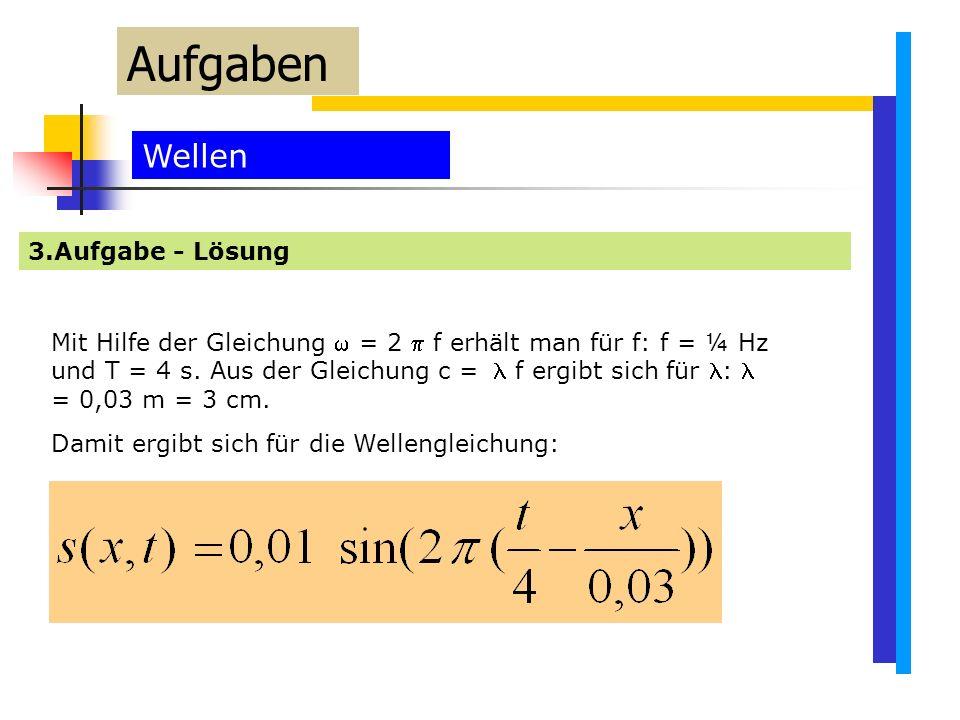 Aufgaben Wellen 3.Aufgabe - Lösung