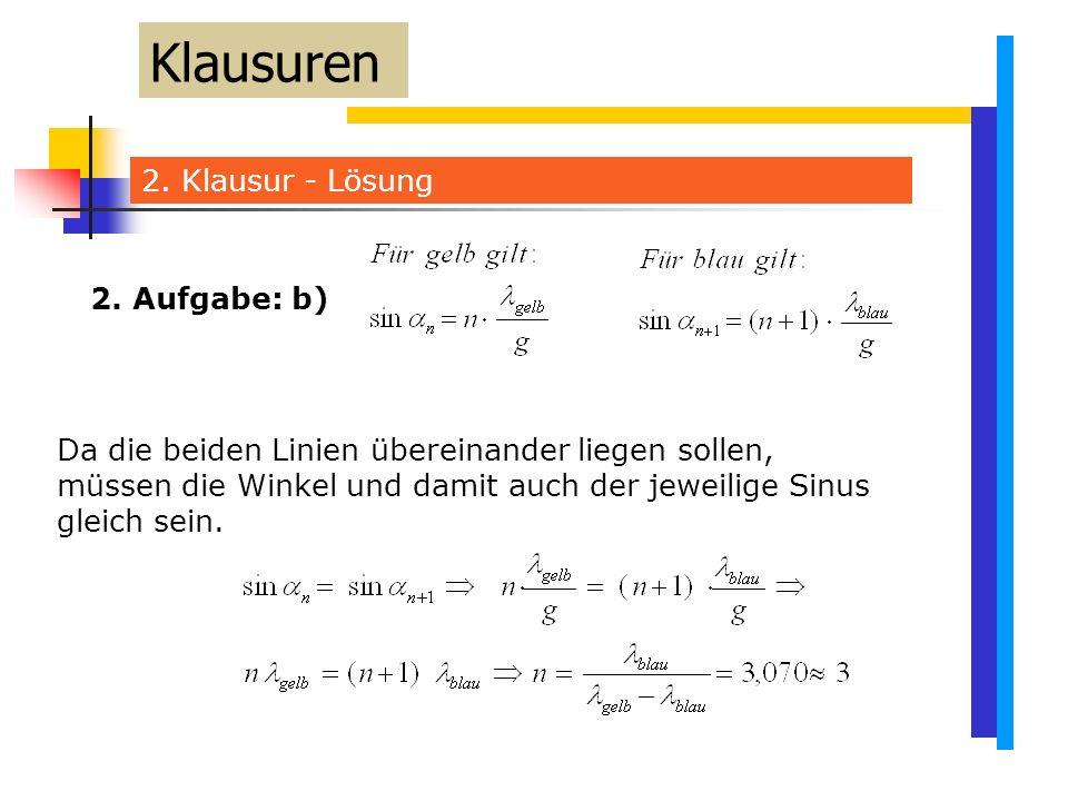 Klausuren 2. Klausur - Lösung 2. Aufgabe: b)