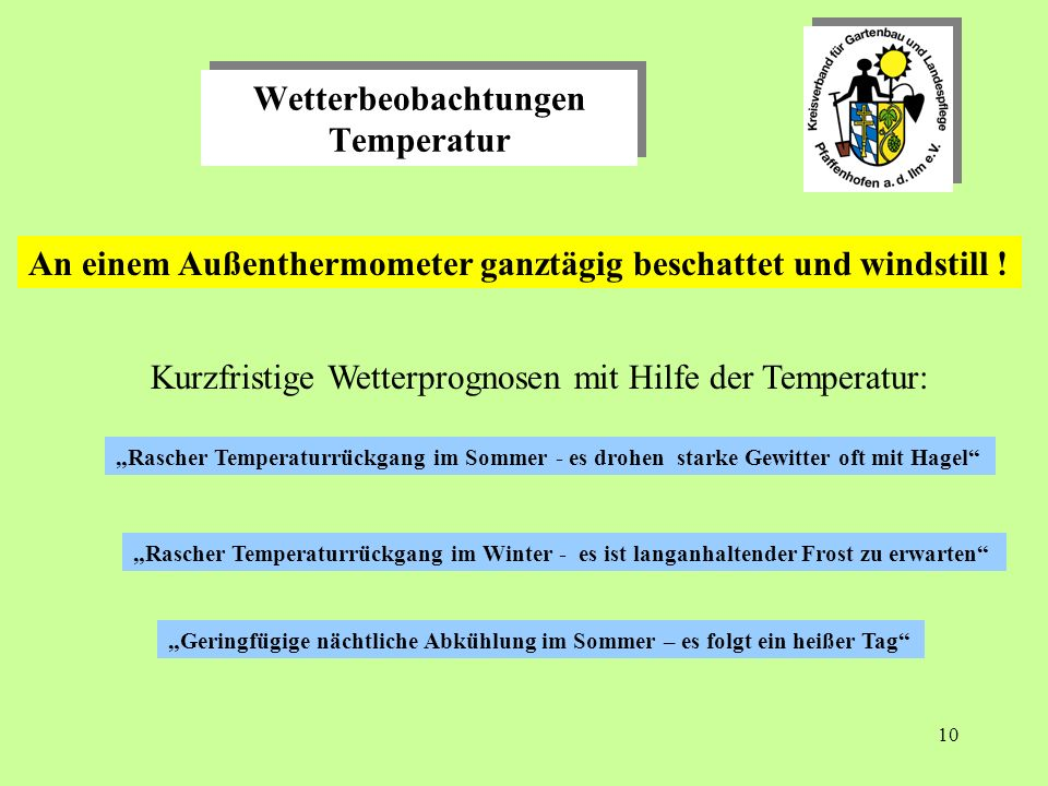 Wetterbeobachtungen Temperatur