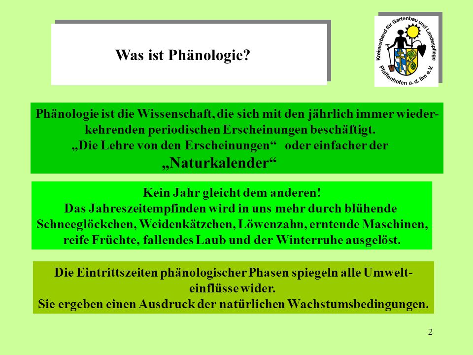 "Was ist Phänologie ""Naturkalender"