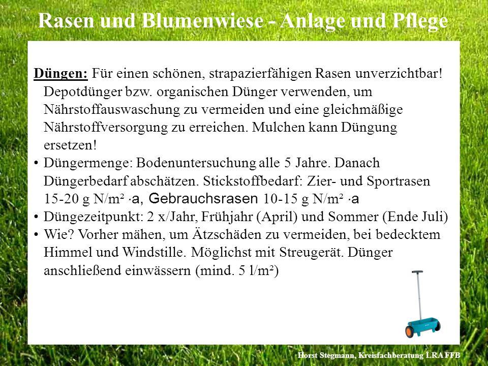 Düngen: Für einen schönen, strapazierfähigen Rasen unverzichtbar