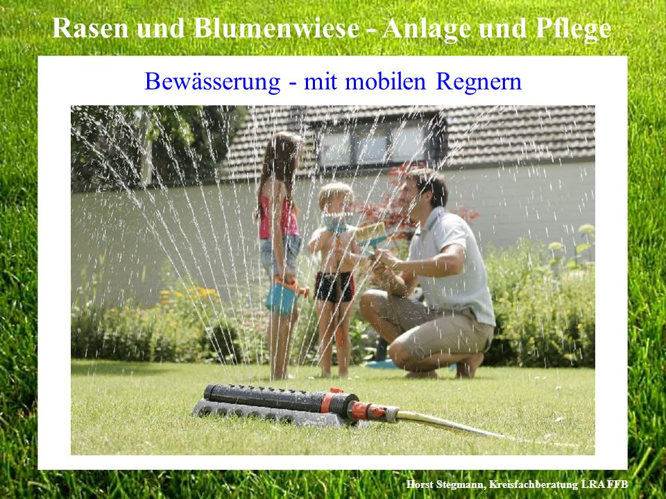 Bewässerung - mit mobilen Regnern