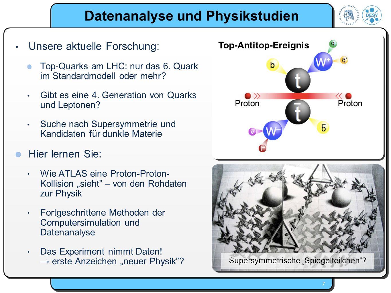 Datenanalyse und Physikstudien
