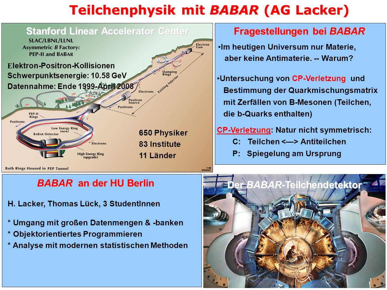 Teilchenphysik mit BABAR (AG Lacker)