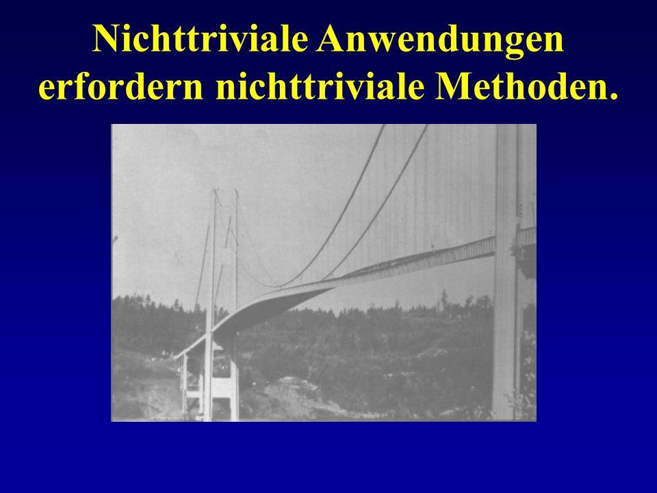 Nichttriviale Anwendungen erfordern nichttriviale Methoden.
