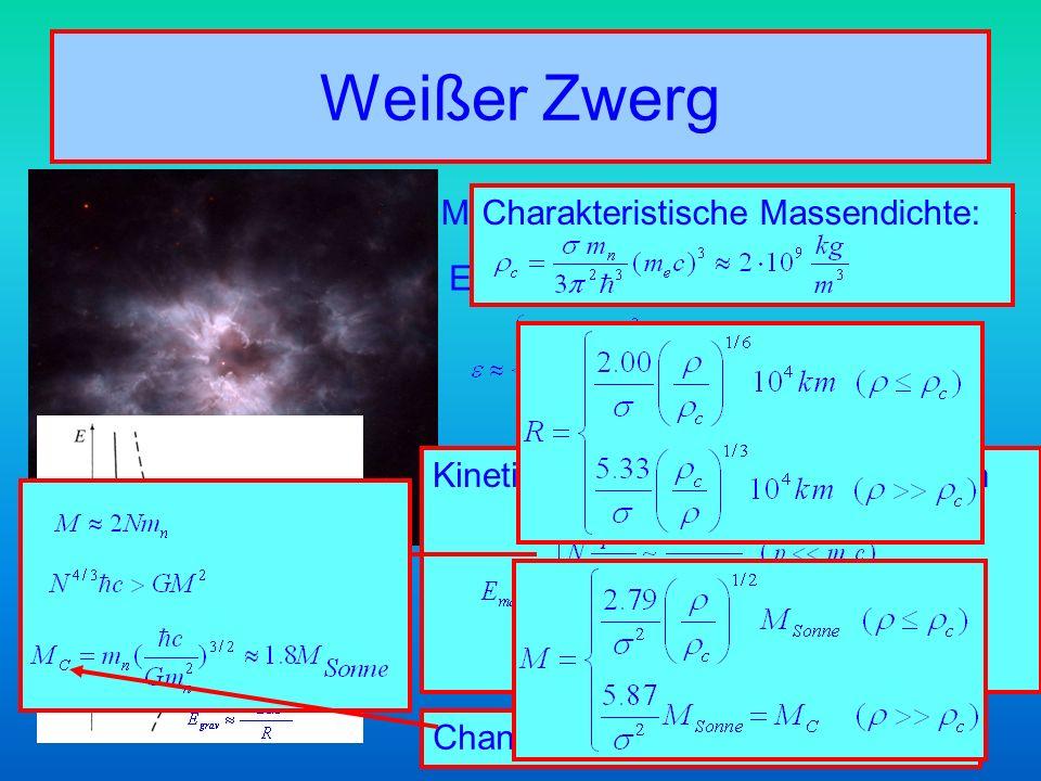 Weißer Zwerg Mittlerer Elektronenimpuls
