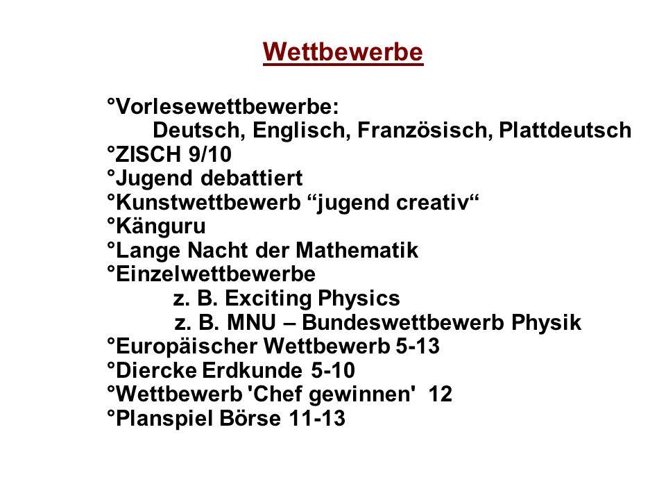 Deutsch, Englisch, Französisch, Plattdeutsch
