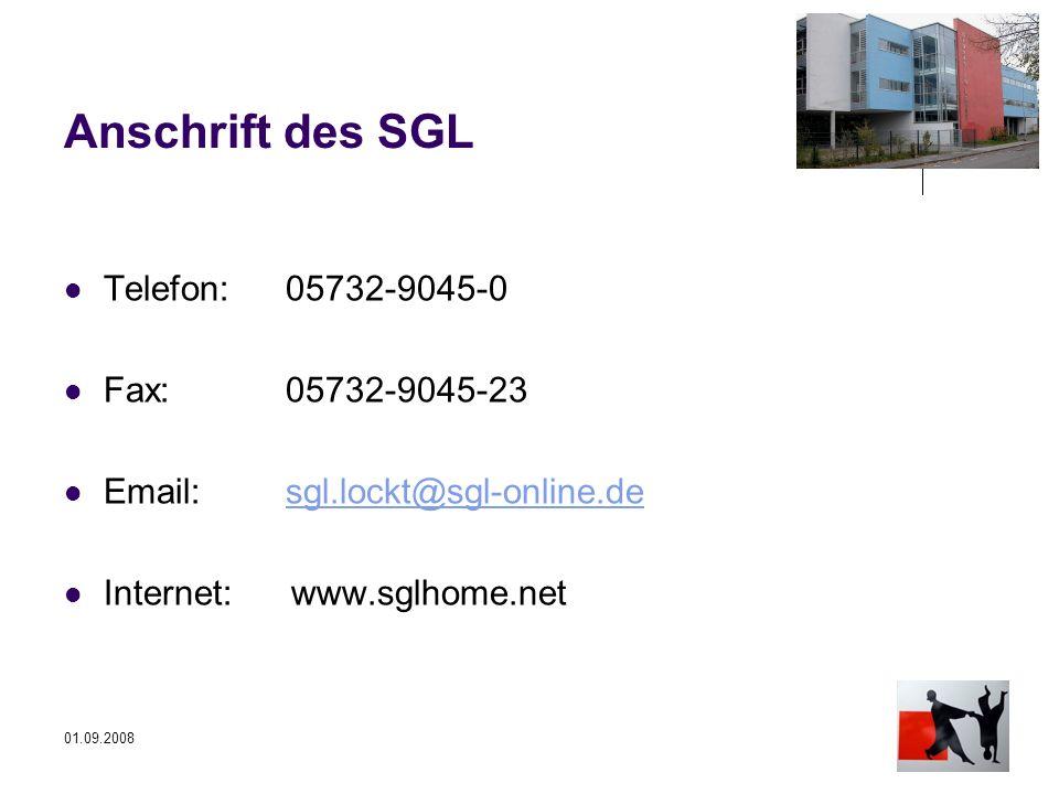 Anschrift des SGL Telefon: 05732-9045-0 Fax: 05732-9045-23