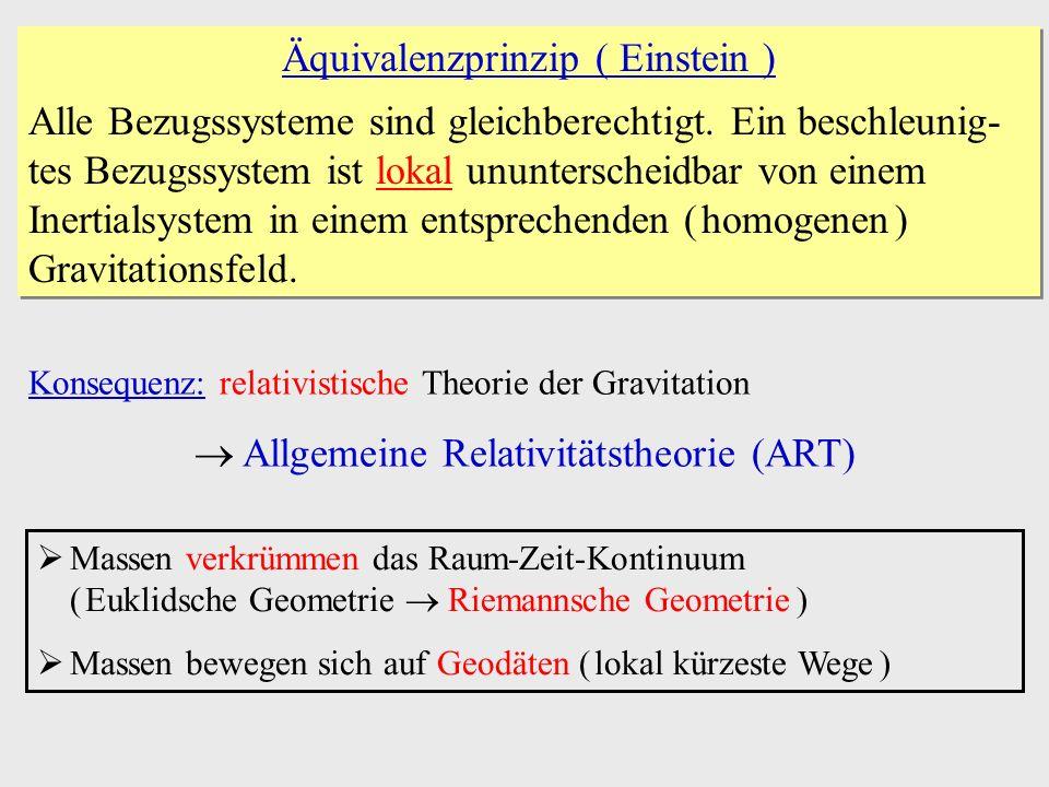 Äquivalenzprinzip ( Einstein )