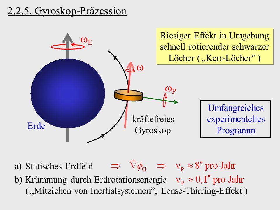 2.2.5. Gyroskop-Präzession E  P
